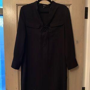 Theory Dresses - Black silk Theory lace up dress